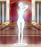 big_breasts breasts disney elsa frozen frozen_(movie) ice ice_statue l-exander909 nipples nude pussy statue zimu_jiang