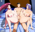 ass big_breasts big_penis big_testicles breast_grab breasts cum cumshot ed-jim female genderswap james jessie male nipples penis pokemon pussy spread_legs team_rocket testicles threesome tribadism_on_penis whentai