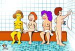 ass breasts crossover edna_krabappel family_guy futurama lois_griffin nude scooby-doo the_simpsons turanga_leela velma_dinkley yellow_skin