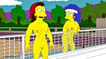 big_breasts big_nipples marge_simpson nude shaved_pussy the_simpsons