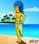 big_breasts breasts legs marge_simpson skirt the_simpsons yellow_skin