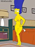 breasts marge_simpson nude shaved_pussy the_simpsons yellow_skin
