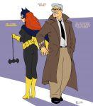 ass ass_smack barbara_gordon batgirl commissioner_gordon cosplay dc_comics father_and_daughter flick_(artist)