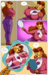 arabatos bear_girl breasts brown_eyes brown_hair disney furry hair high_heels huge_breasts hypnotic_accessory long_hair milf rebecca_cunningham talespin text