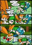 "cosmo_the_seedrian galaxina_the_seedrian miles_""tails""_prower multiple_tails sonic tagme tail text"