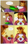 arabatos bear_girl breasts brown_eyes brown_hair disney furry hair high_heels huge_breasts long_hair milf rebecca_cunningham talespin text