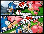 amy_rose animal_ears ass cute female furry heart hot kissing male pussy sexy sonic sonic_the_hedgehog tail undressing