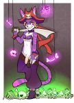 anthro cat cheshire_thaddeus_felonious clothing cosplay ear_piercing feline fur furry hat male mammal melee_weapon penis piercing risky_boots scarlet-frost shantae sword weapon