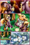 comic happyanthro_(artist) tagme the_girls_-_a_camping_trip_gone_bad