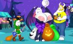 1girl 2016 absurd_res anjuneko anthro areola asgore_dreemurr asriel_dreemurr badgerben big_breasts boss_monster breasts caprine crossover darkstalkers erect_nipples family father father_and_son friendship_is_magic full_moon furry goat group halloween highres holidays huge_breasts hyper hyper_breasts link male mammal mature_female melee_weapon milf moon morrigan_aensland mother_and_son my_little_pony night nightmare_night nintendo nipples parent shield son sword the_legend_of_zelda toriel undertale video_games weapon