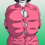 1girl 1girl allriane anthro big_breasts breasts cleavage clothed clothing dragon fogdagger_(artist) furry gif huge_breasts shirt wardrobe_malfunction