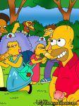 barney_gumble groundskeeper_willie homer_simpson patty_bouvier selma_bouvier the_simpsons