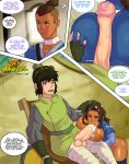 ass avatar:_the_last_airbender big_ass big_breasts big_penis breast breasts cleavage comic cum fellatio huge_ass huge_dick jay-marvel katara oral paizuri penis sokka