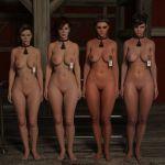 3d 4girls breasts crabbyoldman_(artist) nipples pussy slave