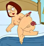 anus big_ass big_breasts breasts family_guy hot_dogs meg_griffin nipples nude shaved_pussy