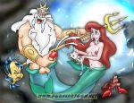 crab cum disney fish flounder king_triton porncartoon.net princess_ariel sebastian the_little_mermaid