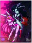 14-bis adventure_time ass big_ass big_breasts breasts bunny_ears bunny_girl bunny_tail bunnysuit cleavage guitar marceline princess_bubblegum