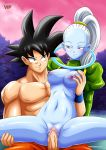 big_breasts big_penis breasts clitoris dragon_ball dragon_ball_super female male nipples nude palcomix penis pussy pussy_juice son_goku vados