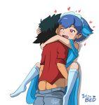 ash_ketchum dark_gargo gargo! heart miette millefeui_(pokemon) pokemon pokemon_xy satoshi_(pokemon)