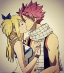 1boy 1girl art babe blonde_hair couple fairy_tail friends hair hetero long_hair love lucy_heartfilia natsu_dragneel pink_hair short_hair