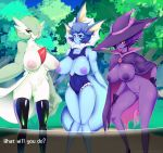 big_breasts breasts female gardevoir humanized mismagius nipples nude personification pokemon pokemorph pussy tacoheadshark vaporeon