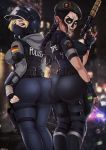 ass big_ass big_breasts black_hair blonde_hair blue_eyes breasts caveira face_paint fuckable green_eyes huge_ass insanely_hot iq looking_at_viewer rainbow_six_siege therealshadman_(artist)