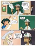 ash_ketchum class classroom comic lillie lillie_(pokemon) pokemon pokemon_sm professor_kukui raicosama satoshi_(pokemon) school speech_bubble