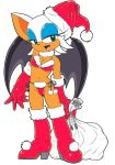 1girl anthro bat blue_eyes boots breasts christmas cleavage furry gloves green_eyes hat lingerie panties rouge_the_bat sega simple_background sonic sonic_the_hedgehog transparent_background underwear vector video_games wings
