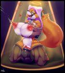 1girl 2016 anthro areola ball_gag bdsm ber00_(artist) big_breasts big_nipples breasts canine dildo disney erect_nipples fox furry gag heart huge_breasts lactating maid_marian mammal milk nipple_piercing nipples penetration piercing puffy_nipples pussy robin_hood_(disney) rope sex_toy smile vaginal vaginal_penetration