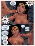 breasts cum_in_mouth cum_on_breasts dc_comics dcau facial justice_league nude sunsetriders7 vandal_savage vandalized_(sunsetriders7) wonder_woman