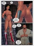 breasts dc_comics dcau justice_league nude sunsetriders7 top_pulled_down vandal_savage vandalized_(sunsetriders7) wonder_woman
