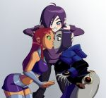 ass big_ass big_breasts breasts dc kissing raven starfire teen_titans yuri zone-tan