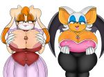 1girl 2017 anthro areola areola_slip bat big_breasts breasts cleavage clothed clothing digitaldomain123 equine erection fan_character furry group hedgehog horse huge_breasts lagomorph macro male mammal penis pony rabbit rouge_the_bat sega size_difference vanilla_the_rabbit