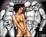 a_new_hope breasts covering_crotch nude princess_leia_organa shabby_blue star_wars stormtrooper