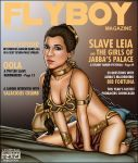 bed breasts chain collar flyboy magazine_cover non-nude princess_leia_organa return_of_the_jedi shabby_blue slave_leia star_wars