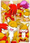 "knuckles_the_echidna miles_""tails""_prower mobius_unleashed multiple_tails sonia_the_hedgehog tagme tail"