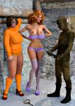 3d bra breasts daphne_blake high_heels panties scooby-doo socks stockings velma_dinkley