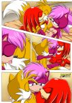 "bisexual knuckles_the_echidna miles_""tails""_prower mobius_unleashed multiple_tails sonia_the_hedgehog tagme tail"