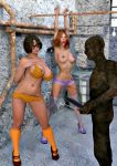 3d big_breasts bondage daphne_blake gag high_heels nipples panties scooby-doo shoes socks stockings velma_dinkley