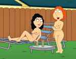 bonnie_swanson breasts family_guy lois_griffin nipples nude shaved_pussy thighs