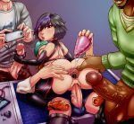 1girl 3boys anal anus anus_juice ass bbc big_hero_6 black_hair brown_eyes butt_plug buttplug captainjerkpants cellphone cowgirl_position dark-skinned_male dark_skin disney elbow_gloves erection female fred fredzilla gangbang gape gaping gaping_anus gauntlets gloves gogo_tomago hair handjob handy highlights human imminent_anal large_penis legwear male marvel marvel_comics multicolored_hair multiple_boys multiple_penises penetration penis phone purple_hair pussy saliva_trail sex sex_toy shoes short_hair smartphone spread_anus spread_ass straight tadashi_hamada testicles thigh_boots two-tone_hair vaginal_penetration veins veiny veiny_penis wasabi wasabi_(big_hero_6)