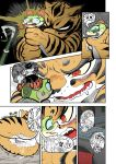 1girl angry anthro anus bone clitoris comic dreamworks duo feline frown fur furry kung_fu_panda mammal master_tigress master_viper pussy pussy_juice reptile scales scalie skeleton snake speechless stripes sweat teeth text tiger tongue tongue_out zenmigawa