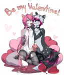 anthro armpits blush bound candy cat chocolate collar erection feeding feline food furry girly holidays justsyl male male/male mammal nichi piercing valentine's_day yoru