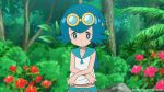 :) anime beach blue_hair edit flower freckles gif goggles lana no_bra outdoor outside pokemon pokemon_(anime) pokemon_sm shirt_lift short_hair sleazdog sleazdog_(artist) small_breasts smile suiren_(pokemon) topless tumblr undressing