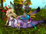 chubby draenei interspecies murloc oral penetration threesome world_of_warcraft
