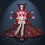 3d big_breasts breasts christmas idsaybucketsofart monster_girl muffet multiple_arms multiple_eyes nipples pussy spider_girl undertale