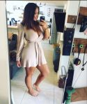 1girl big_ass big_breasts breast brown_hair erect_nipples milf mirror phone robe selfie selfpic smartphone