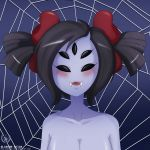 alcasar-reich alcasar-reich_(artist) big_breasts breasts cleavage monster_girl muffet multiple_eyes nude spider_girl undertale