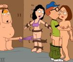 bonnie_swanson chris_griffin family_guy funny gif guido_l meg_griffin neil_goldman panties rope stretch