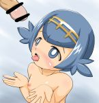 bar_censor lana nude open_mouth penis pokemon pokemon_sm small_breasts suiren_(pokemon) tongue tongue_out
